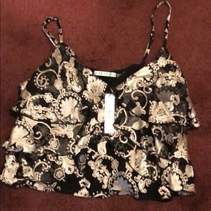 Brand new with tag Alice and Olivia silk crop top